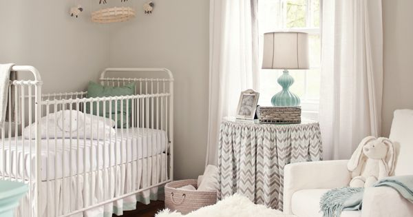 Love this color scheme. Like the crib and rug and rocker. HATE