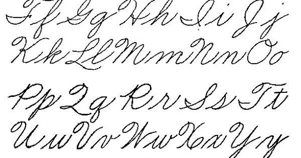 Old Style Handwriting Alphabet Handwriting Pinterest