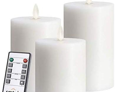Amazon Com Smtyle 3x3 Inch Moving Flame White Flameless Candles