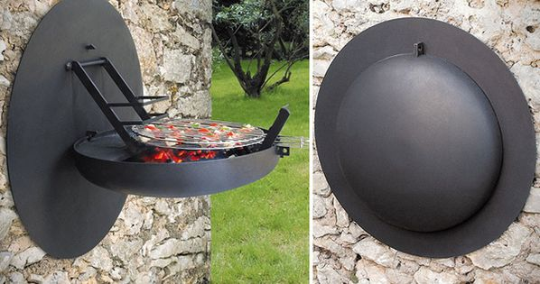 Folding Wall-Mounted BBQ Pod | 33 Insanely Clever Things Your Small Apartment
