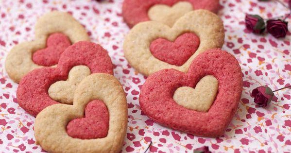 Biscuits sablés coeur 2 couleurs pour la Saint-Valentin  Recette ...
