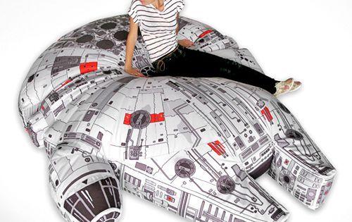 Star Wars Millennium Falcon Bean Bag Chair. Amazing.