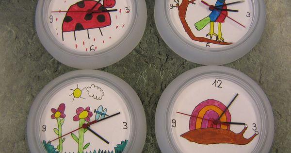 Horloge ikea peinte avec de l 39 coline f tes des parents for Ikea horloge