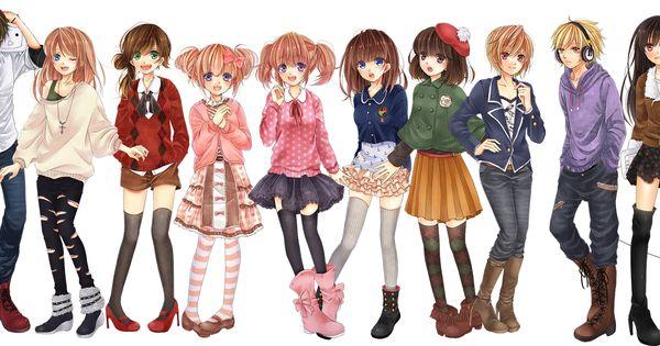 anime girl clothes ideas animemanga pinterest boys