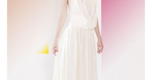 Robe de mariée style bohème fluide en voile de soie, création ...
