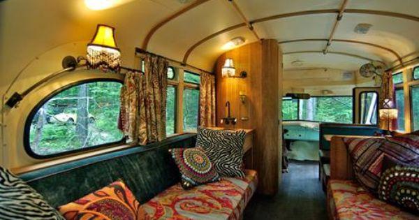 School Bus Rv Crazy Camper Pinterest Boho Hippie