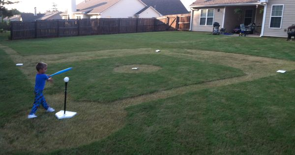 backyard baseball field daddy made this for logan 39 s sports themed