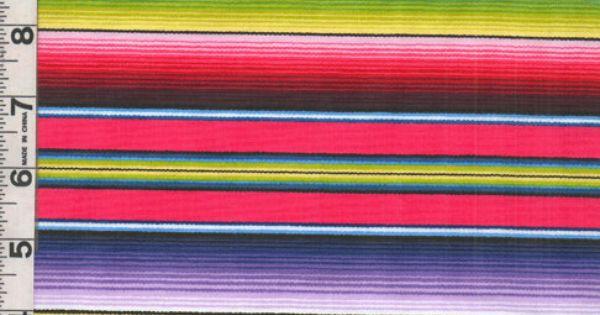 Fabric Elizabeth's Studio FIESTA SERAPE stripe blue ...