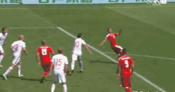 Xherdan Shaqiri Overhead Kick Goal Of The Euro 2016 Euro 2016 Football Gif Football