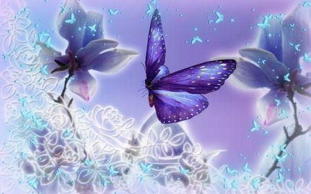 Purple Butterflies Sparkling Desktop Nexus Wallpapers Butterfly Wallpaper Purple Butterfly Wallpaper Butterfly Background