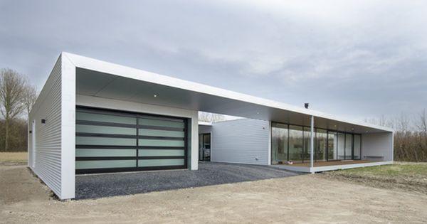 Bungalow bouwen met plat dak google zoeken house exterior pinterest search met and - Bungalow ontwerp hout ...