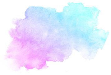 Illustration Abstract Pink Watercolor On White Background This Is