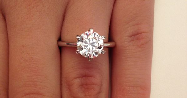 2 00 Ct Round Cut D VS1 Diamond Solitaire Engagement Ring 14k