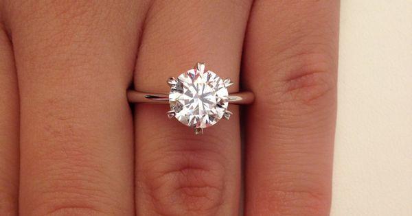 2 00 Ct Round Cut D VS1 Diamond Solitaire Engagement Ring 14k