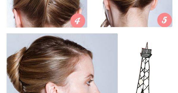 Glamour Style Hochsteckfrisur Banane Selber Machen Haarbanane Frisuren Selbstgemachte Frisuren