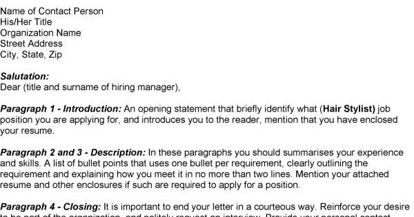 sample application letters for employment
