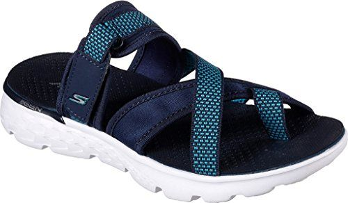 Skechers Performance Womens On The Go 400 Discover Flip Flop Navy 5 M Us Details Can Be Found By Skechers Performance Women Sport Sandals Skechers On The Go