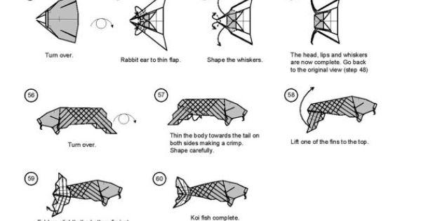 koi fish diagram  5 of 5  money origami dollar bill art