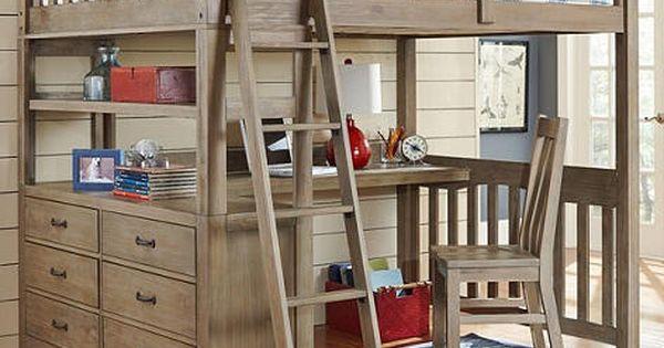 Crosspointe Twin Size Study Loft Bed  가구리폼  Pinterest  가구 리폼 및 ...