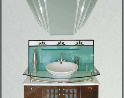deco bathroom mirror the manhattan mirror co arlena vanity 12631