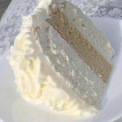 White Almond Wedding Cake Recipe Almond Wedding Cakes Desserts Almond Flavor