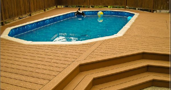Above Ground Pool Deck With Privacy Fence Deck Ideas