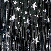 Black Silver Stars Metallic Curtains Silver Stars Night To