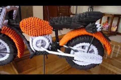 Как сделать из оригами мотоцикл