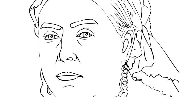 Coloring Pages Queen Victoria : Queen victoria colouring page victorian age for kids