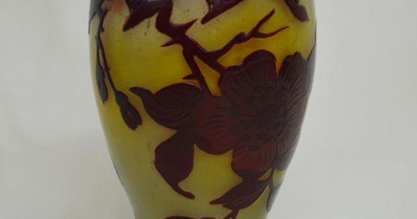 Lampe veilleuse en pâte de verre ducobu années 1900 pâte de