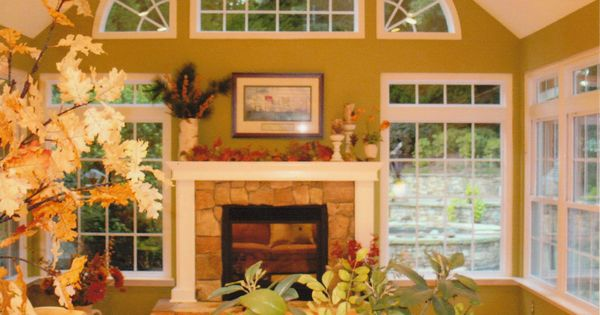 Four Season Sunroom With Fireplace Georgia Sunroom