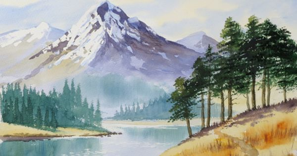 Mountain Trees Taken From Painting Watercolour Trees The Easy Way By Terry Harrison Watercolor Landscape Paintings Watercolor Landscape Landscape