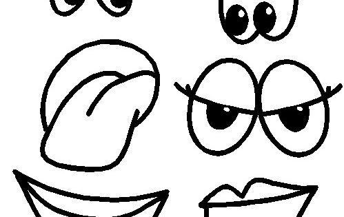 Printable Eyes Nose Mouth Templates