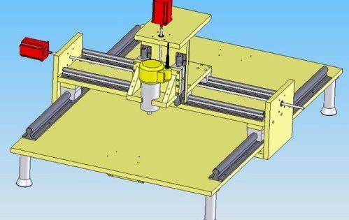 Construction d 39 une table de fraisage commande num rique diy cnc router boite id es - Fabrication table bois ...