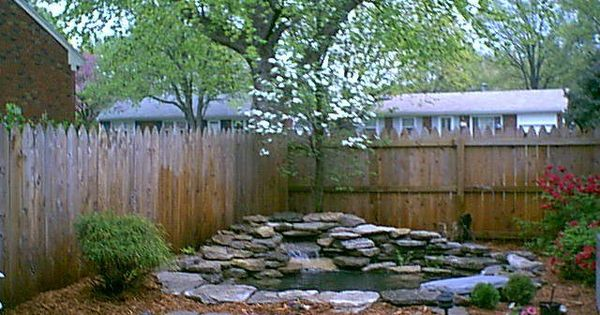 A small retaining wall was added to raise the depth of the for Koi pond depth