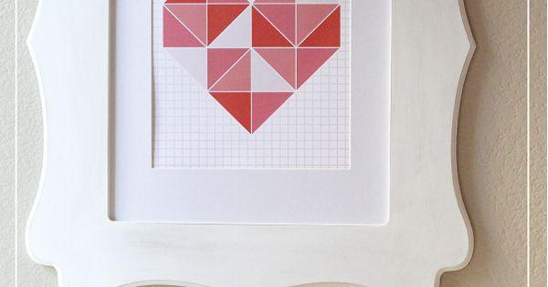 Free Valentines wall art printable on Romantic | http://romanticvalentinedays161.blogspot.com