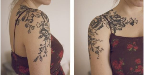 Best Vintage floral tattoo design idea. See unique Vintage floral tattoo ideas