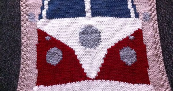 Volkswagen Campervan knitted baby blanket - project on the ...