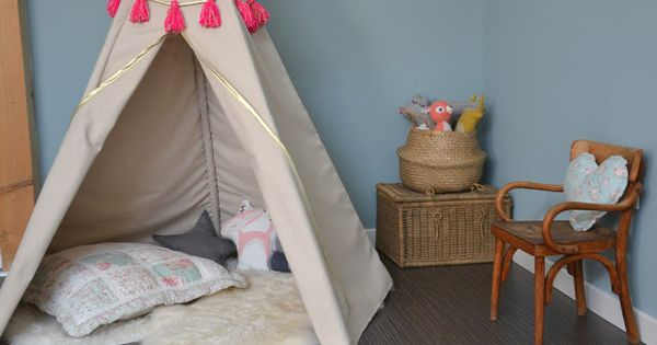 tuto fabriquer un tipi pour enfant kids activit s et. Black Bedroom Furniture Sets. Home Design Ideas