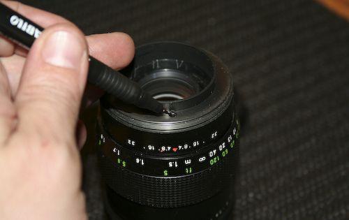 How To Overhaul A Pentacon 135 2 8 Marking For Re Assembly Meyer Optik Orestor Pentacon 135mm F2 8 15 Blades Version Aperture Disassembly Lens Aperture