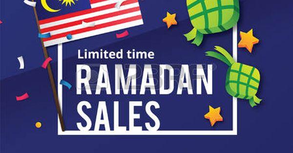 Ramadan Sales Design Concept With Malaysia Flag Concept Design Malaysia Flag Ramadan