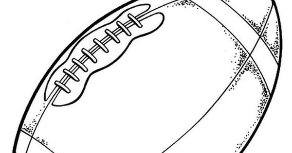 Football Coloring Page Card