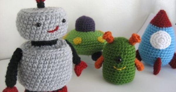 Crochet Jordans : Robots Crochet Pinterest Jordans, Robots and Space ship