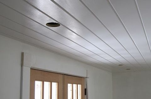 Kitchen Ceiling And Cabinet Paint Tests Tongue And Groove