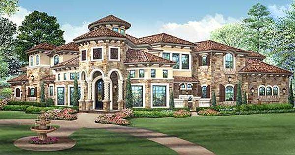 Plan 36427tx Mediterranean Mansion House Plan Mediterranean Mansion Mansions House Plans