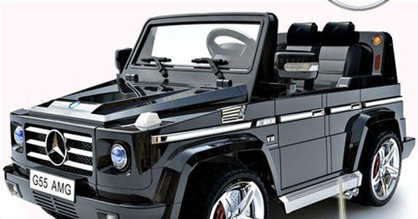 Licensed black mercedes amg g55 luxury kids 12v jeep for Mercedes benz g55 power wheels