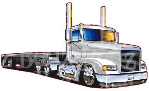 Pin On Semi Truck Drawings