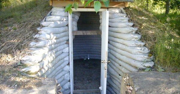 Earthbag Sandbag Root Cellar Gardening Amp The Great