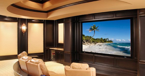 Theatre Room Design,bump out for sconces