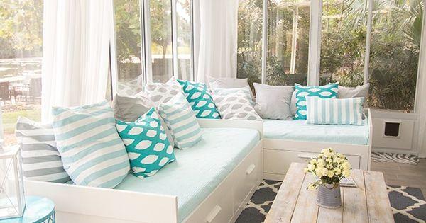 Juguemos con el color decorar con azul verde turquesa for Decoracion de interiores a distancia
